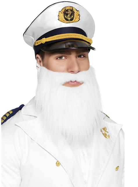 Barba canosa de marinero para hombre