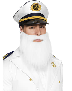 Mens Gray sailor beard
