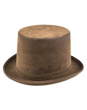 Chapeau haut-de-forme marron steampunk adulte