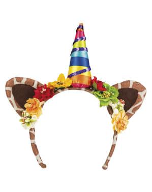 Diadema unicornio de la jungla para adulto