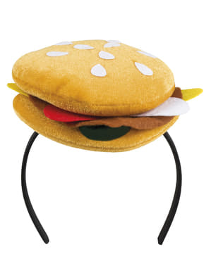 Hamburger headpiece for adults