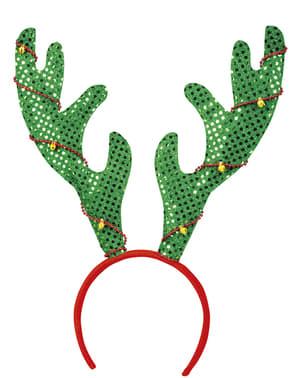 Grønne reinsdyr horn hodepynt for voksne