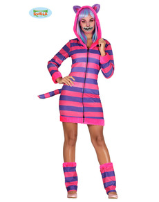 Striped cat costume for women
