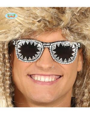 Yetişkinler için Diamante rock yıldızı gözlük