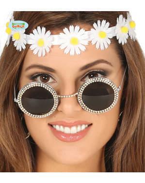Kadınlar için Hippy diamante gözlükleri