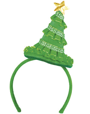 Diadema con árbol de Navidad para adulto