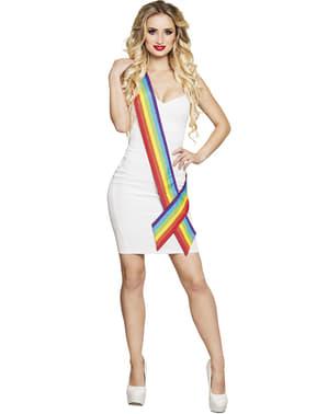 Rainbow sash for adult