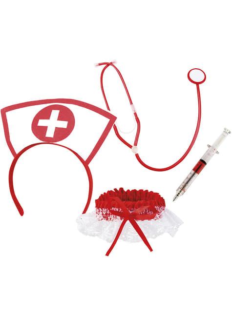 Conjunto de enfermeira para adulto