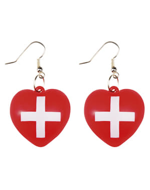 Heart-shaped nurse earrings