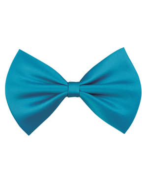 Turquoise bow tie for adults