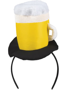 Beer mug headpiece for adults