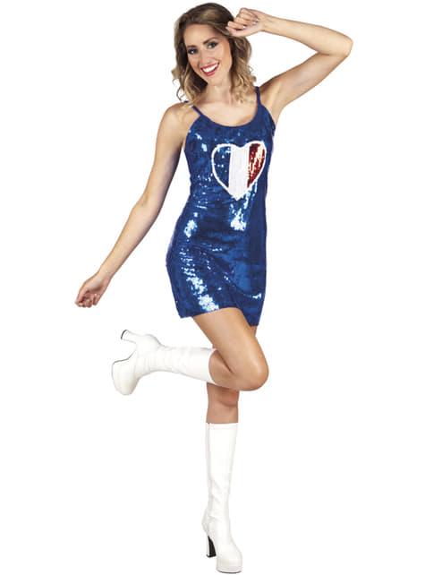 Vestido de francesa sexy para mujer