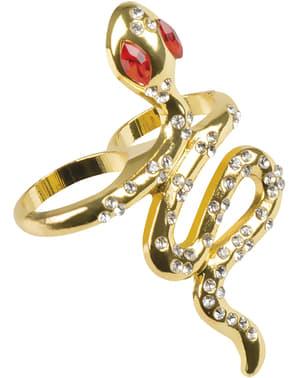 Anel serpentes do Nilo para mulher