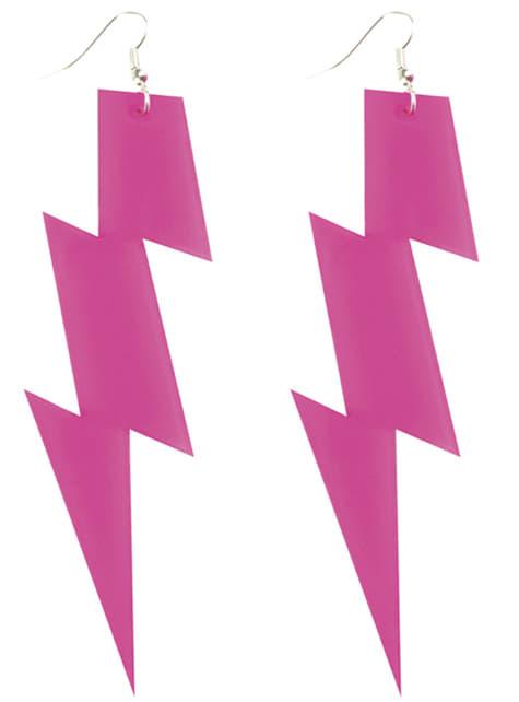 Pendientes de rayo rosa para mujer