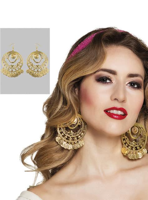 Belly Dance coin earrings