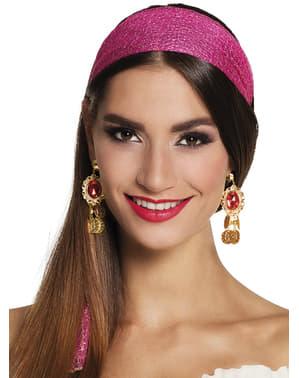 Ohrringe Bougainvillea Zigeuner für Frauen