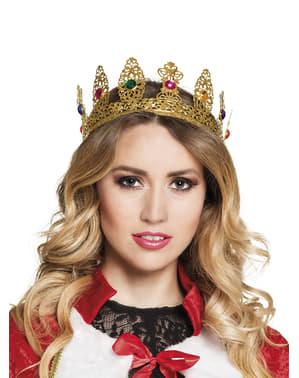 Corona de reina medieval para mujer