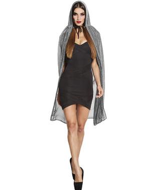 Яскравий сріблястий халат для дорослих