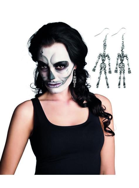 Pendientes de esqueleto para mujer - para tu disfraz