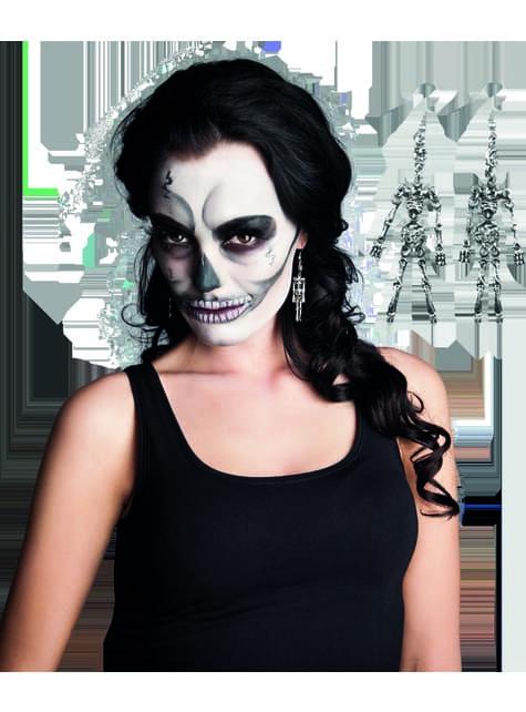 Pendientes de esqueleto para mujer - original