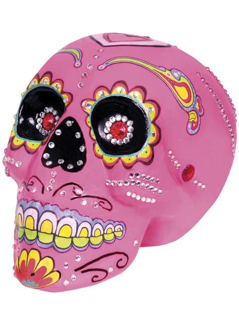Caveira decorativa cor-de-rosa Catrina