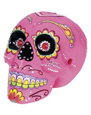 Rosafarbener dekorativer Totenkopf Catrina