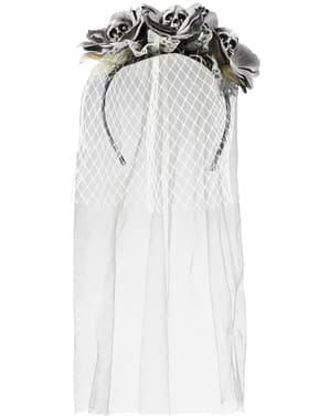 Diadema de novia cadaver para mujer