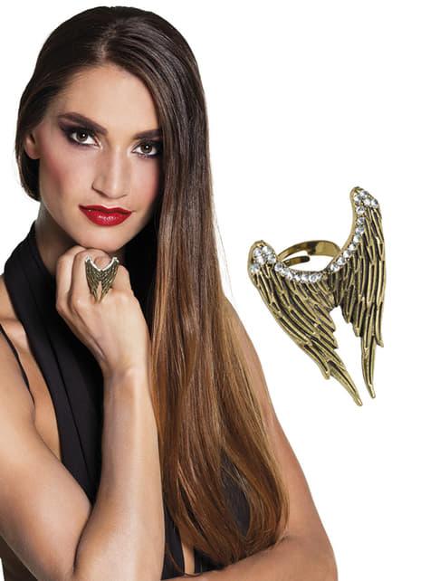 Anillo alas de ángel para mujer - barato
