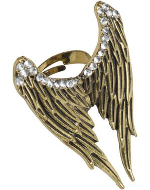 Pierścionek skrzydła anioła damski