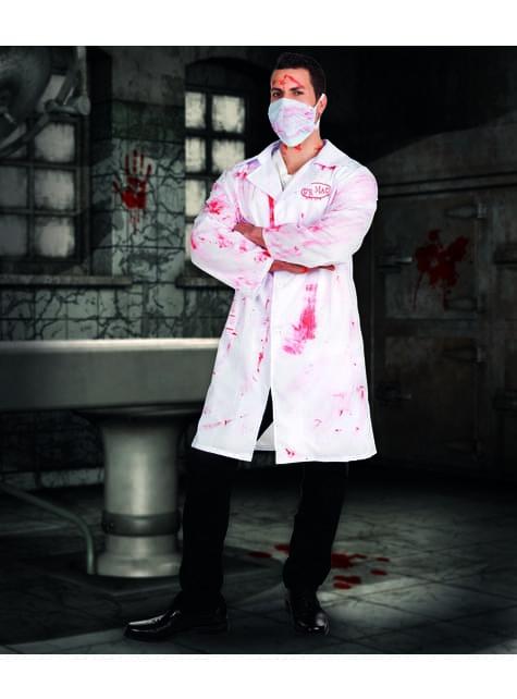 Disfraz de doctor sádico para hombre - traje