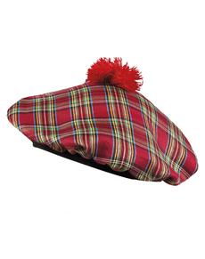 Gorro escocés rojo para adulto