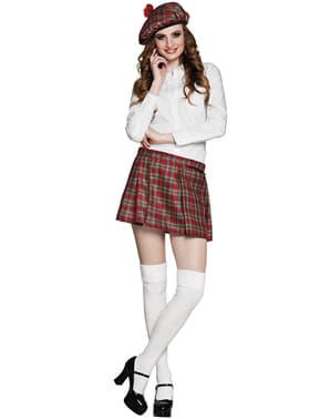 Fustă scoțiană roșie pentru femeie