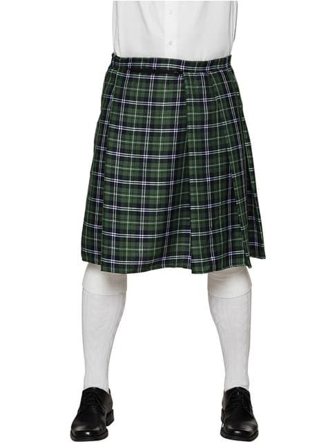 Szkocka spódnica zielona męska