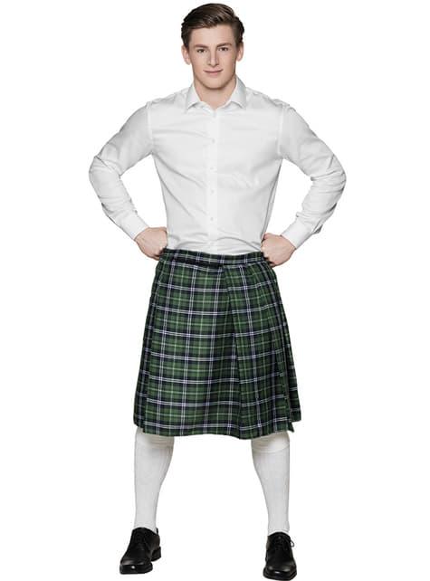 Green Scottish skirt for men