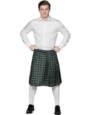 Saia escocesa verde para homem