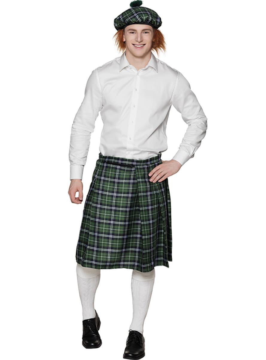 eb7b1caea Falda escocesa verde para hombre. Have Fun!