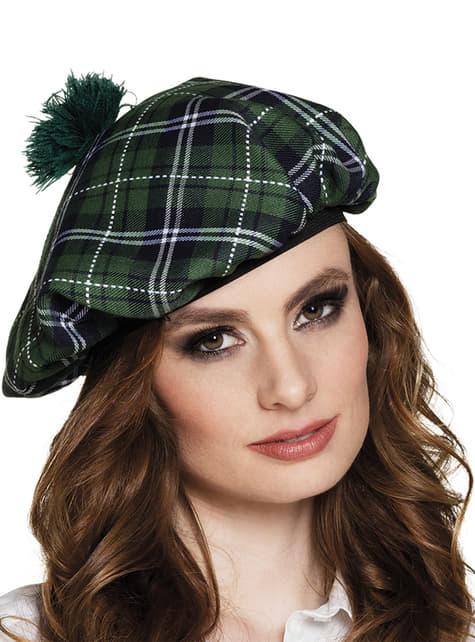 Béret écossais vert femme