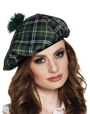 Grüne schottische Baskenmütze