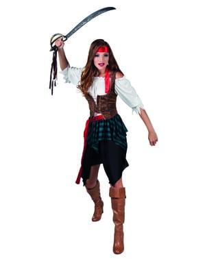 Maskeraddräkt pirat krigarinna dam
