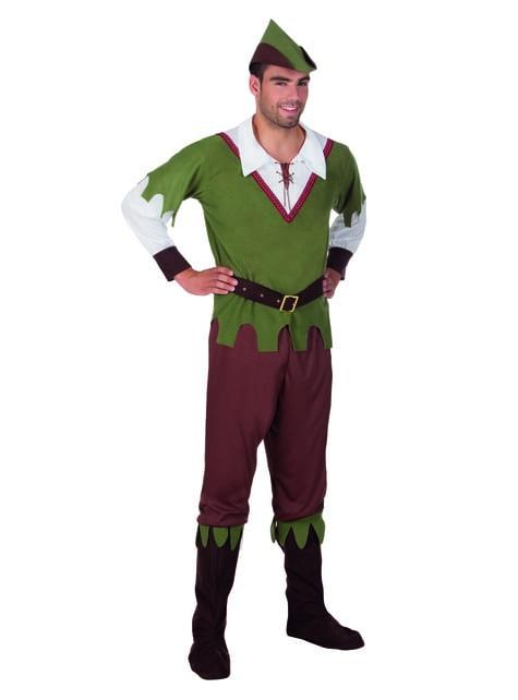 Disfraz de justiciero de los bosques para hombre