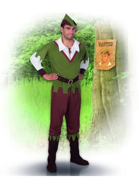 Disfraz de justiciero de los bosques para hombre - hombre