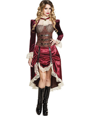 Steampunk lady costume for women