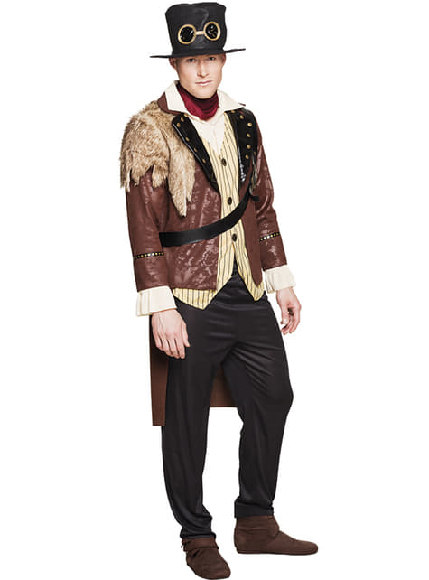 Steampunk captain costume for men