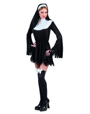 Maskeraddräkt syndig nunna dam
