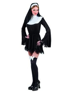 Zondig nonnenkostuum voor vrouw