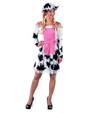 Disfraz de vaca moderna para mujer