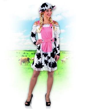 Fato de vaca moderna para mulher