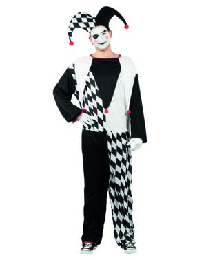 Playful harlequin costume for men