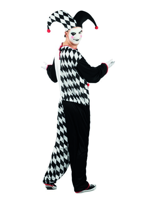 Disfraz de arlequín juguetón para hombre