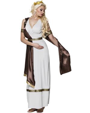 Fato de deusa grega imponente para mulher